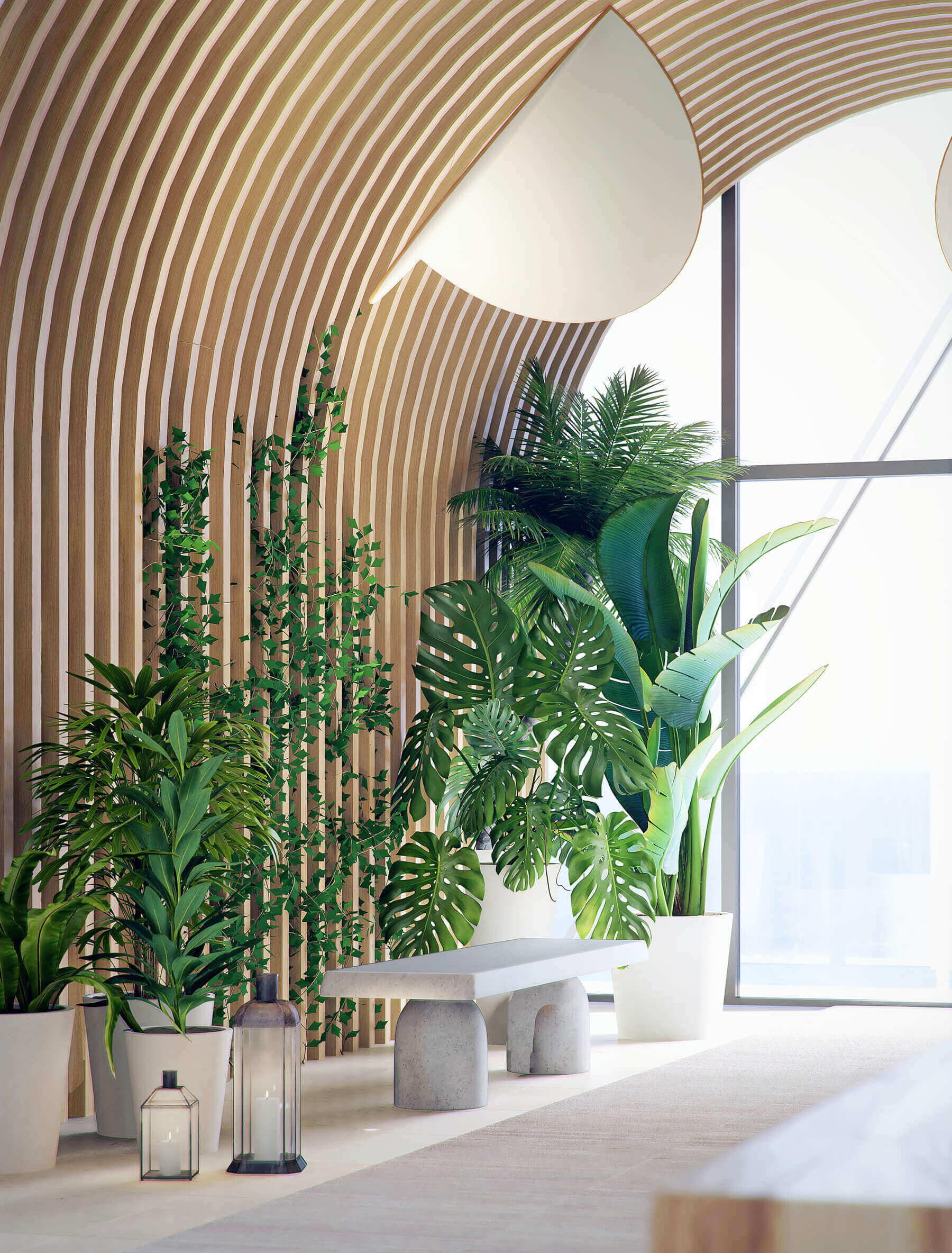 Interior Plant Decorations at Sapphire Residences