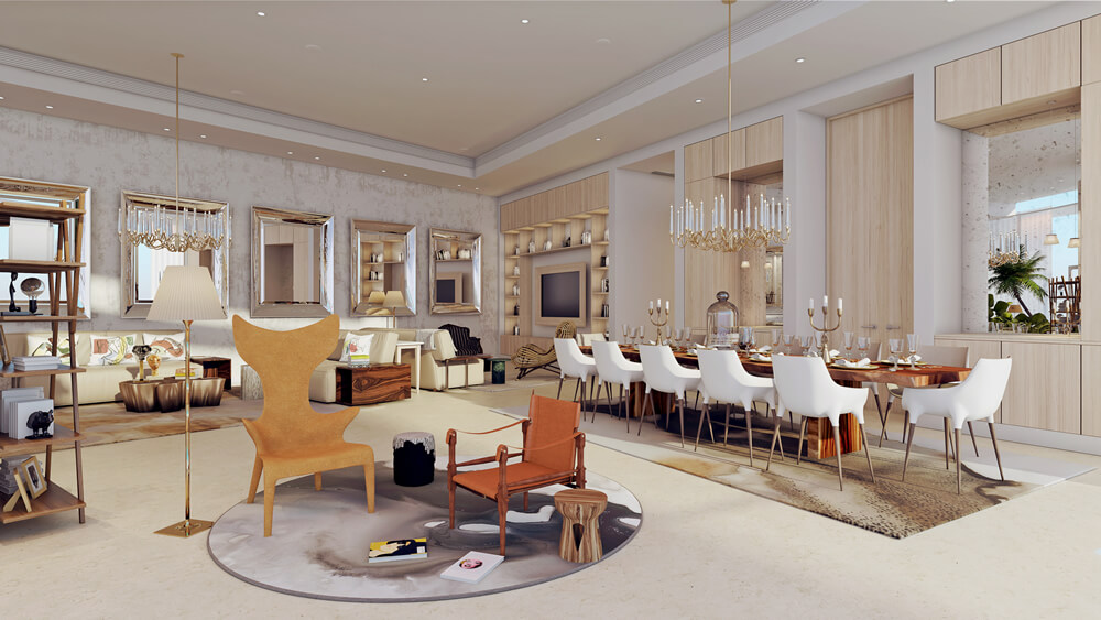 A Dining Area at Sapphire Residences