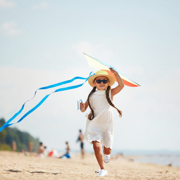 running with the kite