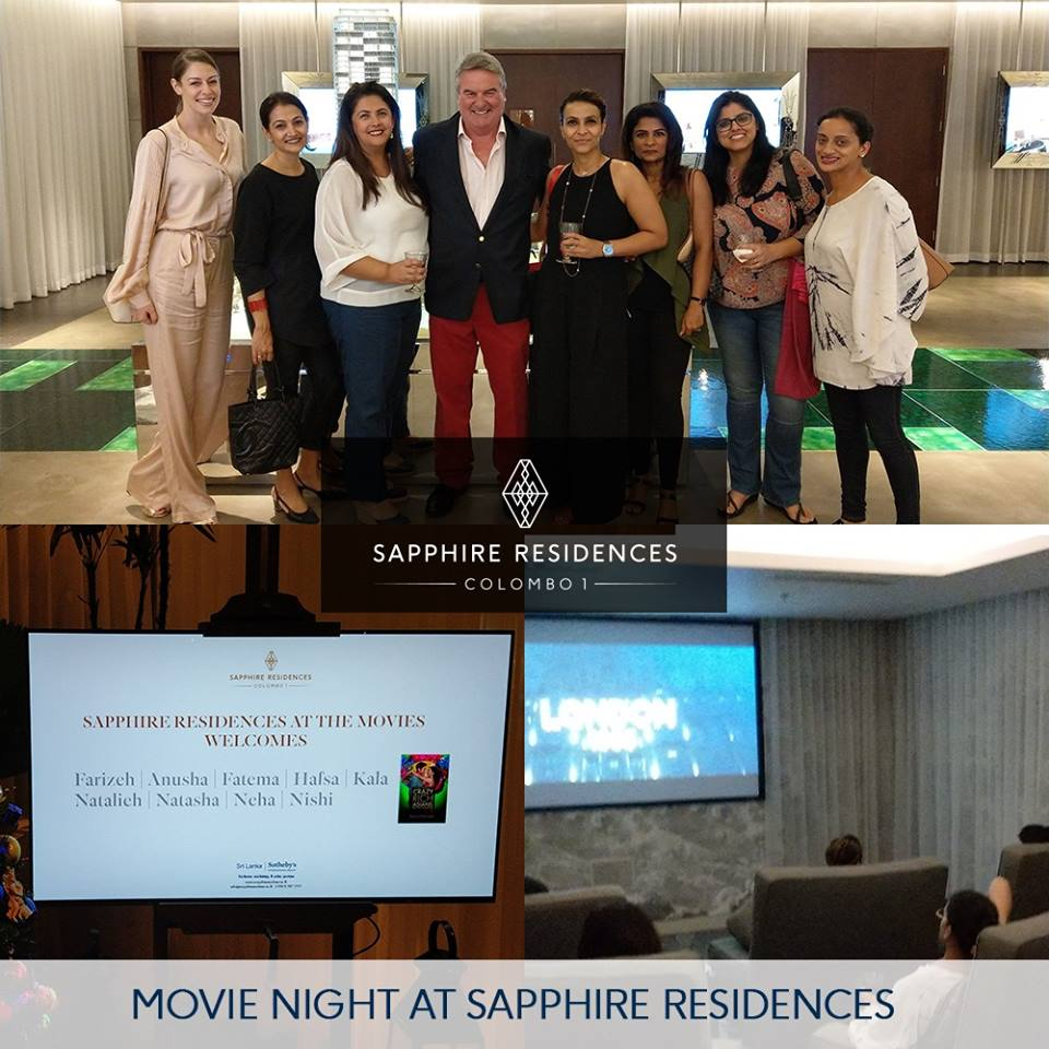 The movie night at Sapphire Residences